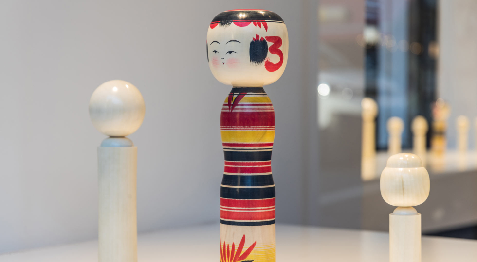 Kokeshi on display 1