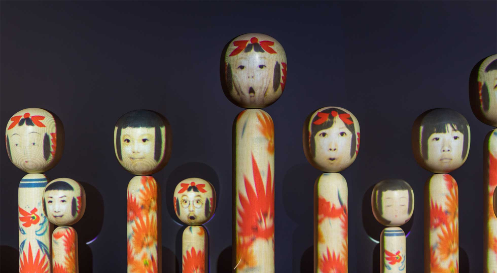 Kokeshi on display 3