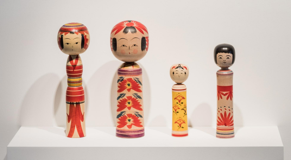 Kokeshi on display 4