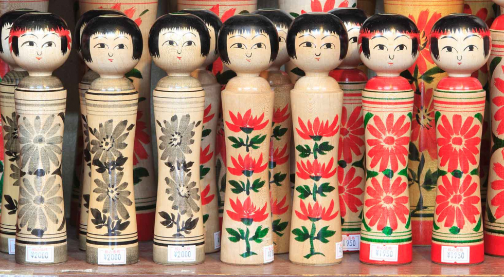 kokeshi lined up 1960x1080