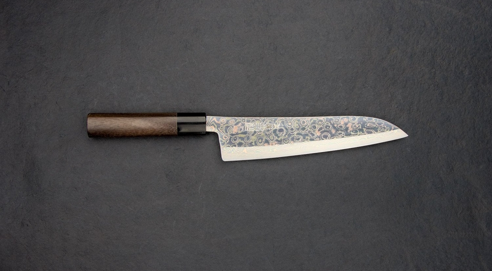Tsukasa Hinoura Coloured Damascus Gyuto 210mm 8 2000x