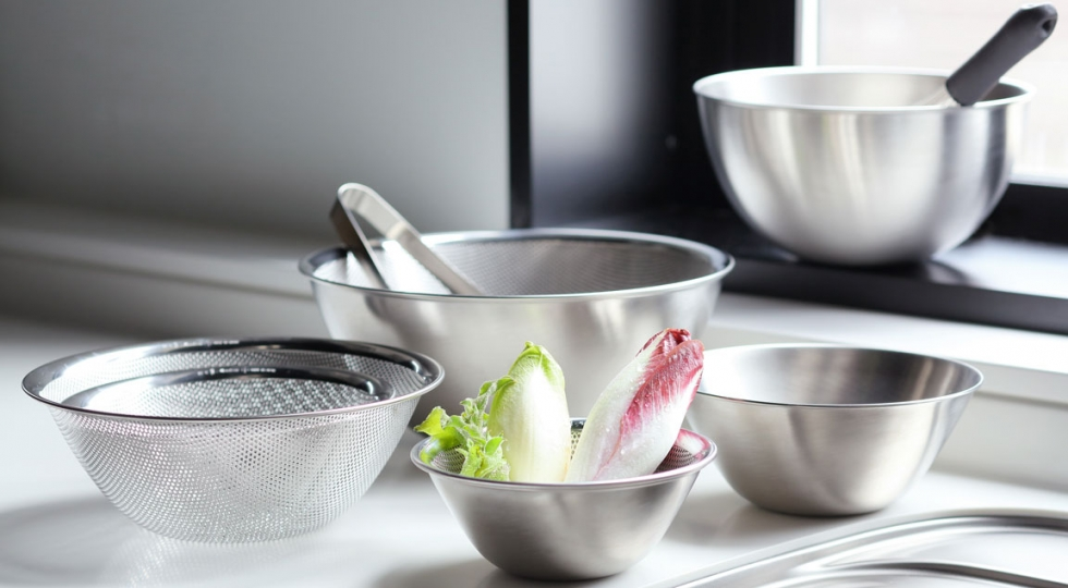 Stainless Steel Bowls by Yanagi Sori